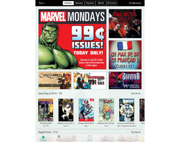 Amazon bloque les paiements in-app de Comixology