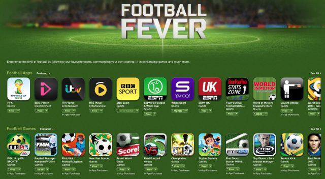 "Mondial 2014 : Apple inaugure une section ""Planète football"" dans l'App store"