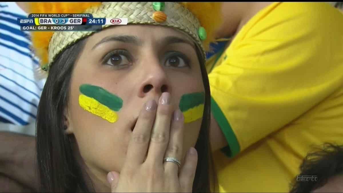 Tous les fans du Brésil pleurent en ce moment