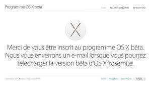 Un bon beta testeur d'OS X doit envoyer ses remarques…