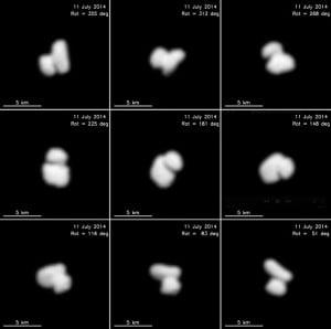 L'étrange double noyau de la comète cible de Rosetta