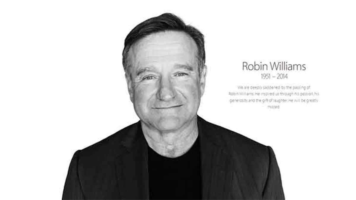 Décès de Robin Williams : Apple lui rend hommage