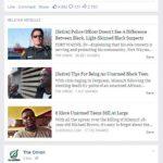 Les liens relatifs du site américain The Onion sont précédés par une mention.