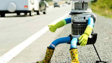 Photo de HitchBot : le robot auto-stoppeur a traversé le Canada