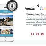 Jetpac se félicite sur son site de rejoindre Google.