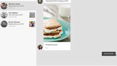Photo de Pinterest adapte l'épinglage à la messagerie
