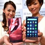 Le nouveau smartphone de Sharp sera disponible d'abord au Japon, puis aux États-Unis.