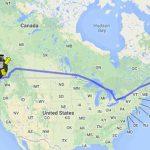 Trajet de HitchBot à travers le Canada.