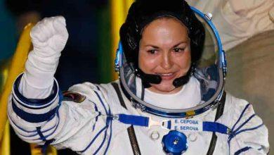 Photo de 17 ans après, une nouvelle cosmonaute russe dans l'espace