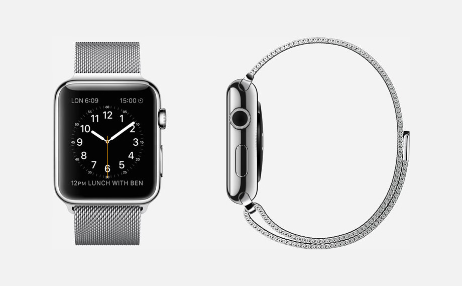 APPLE WATCH : 38mm and 42mm Case - 316L Stainless Steel - Sapphire Crystal Display - Ceramic Back - Milanese Loop - Stainless Steel - Magnetic Closure