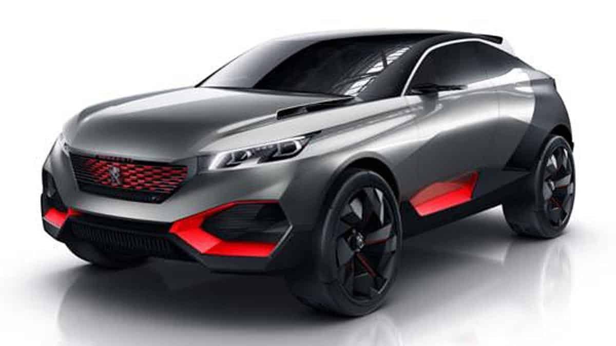 Avec la Quartz, Peugeot présente le concept d'un crossover sportif