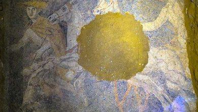 Photo of Découverte d'une superbe mosaïque dans le mystérieux tombeau d'Amphipolis