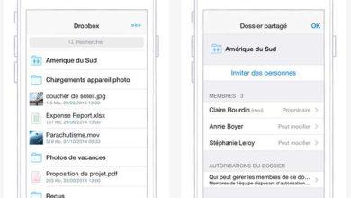 L'application Dropbox optimisée pour iPhone 6 et Touch ID