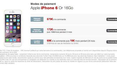 Photo of Free : l'iPhone 6 est disponible à la location