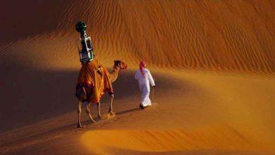 Photo de Google Street View : un dromadaire pour cartographier le désert