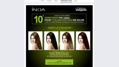 Avec l'application Inoa, L'Oréal professionnel permet de tester sa coloration
