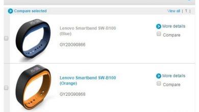 Photo de Lenovo : diffusion accidentelle des détails de son Smartband SW-B100 ?