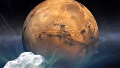 Photo de Opportunity et Curiosity immortalisent le passage de la comète Siding Spring