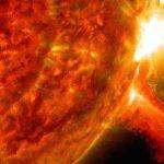 Image d'une éruption solaire, le 2 octobre.
