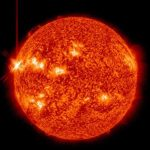 Une image de la Nasa montre une iruption solaire, le 14 mai 2013.