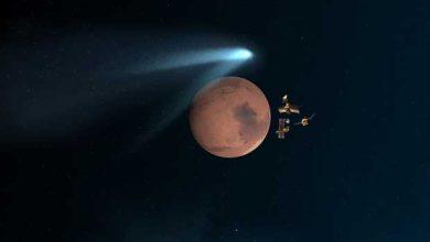 Photo of La comète Siding Spring a modifié l'atmosphère de Mars
