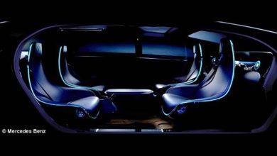 La voiture du futur semble à un salon : Mercedes dévoile la première machine sans conducteur, avec fauteuils pivotants, tables à café et haute technologie