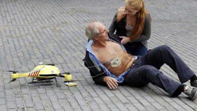 Un drone ambulance équipé d'un défibrillateur