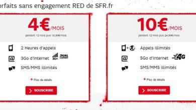 SFR : deux forfaits promotionnels qui cassent les prix