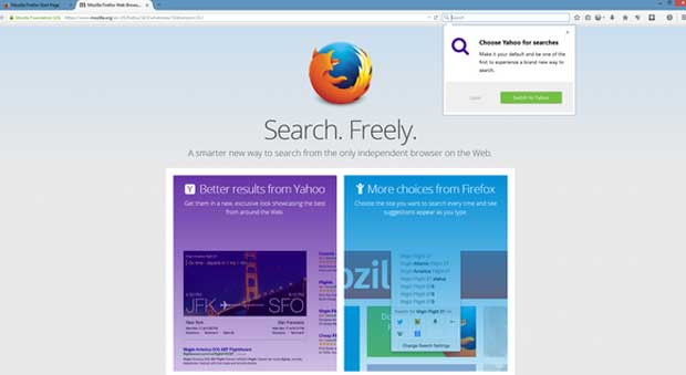 Firefox 34 : nouveau moteur de recherche par défaut et recherche en un seul clic 1
