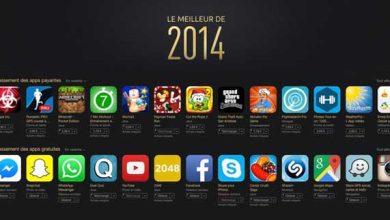 Photo de L'App Store livre son classement 2014
