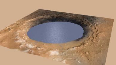 Photo de Mars : Curiosity détecte un lac de 150 km de large