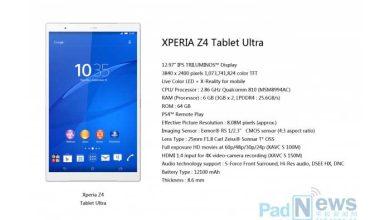 Photo of Sony : une Xperia Z4 Tablet Ultra au cœur des rumeurs