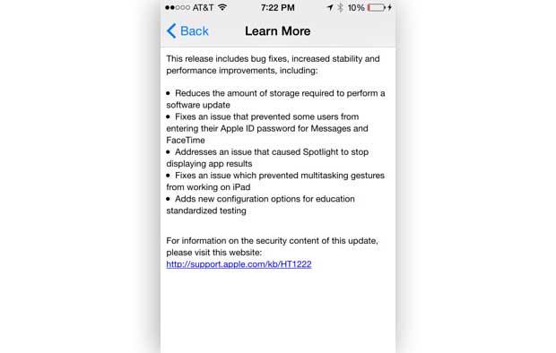 Apple : iOS passe en version 8.1.3 1
