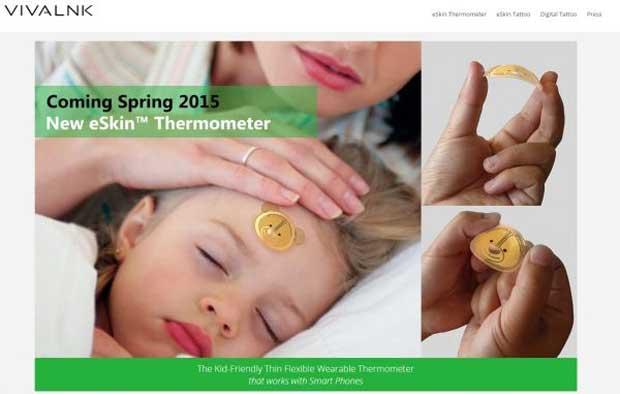 CES 2015 : un autocollant connecté à la place d'un thermomètre