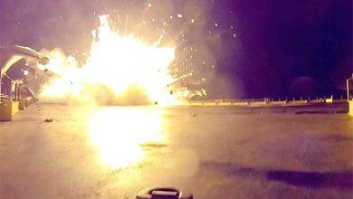 Photo de SpaceX publie une vidéo de l'atterrissage raté du 1er étage du lanceur Falcon 9