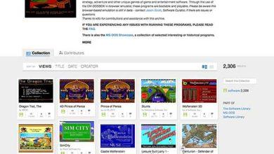 The Internet Archive : 2 300 jeux DOS gratuits pour votre navigateur