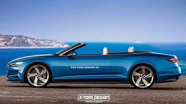 Un artiste imagine l'Audi A9 cabriolet 1