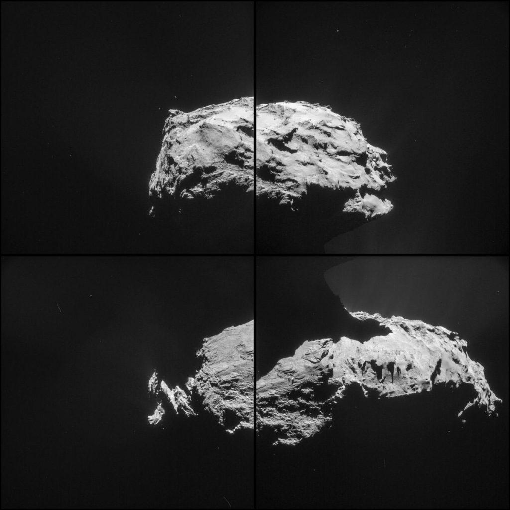 Série d'images prises à une distance de 19,6 miles (ESA / Rosette NavCam)