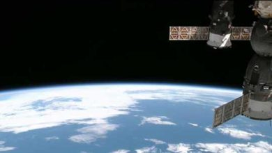 Photo de ISS : 6h41 dans l'espace pour tirer 110 mètres de câbles