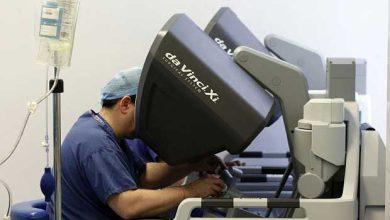 Photo de Première utilisation d'un robot chirurgical en Angleterre