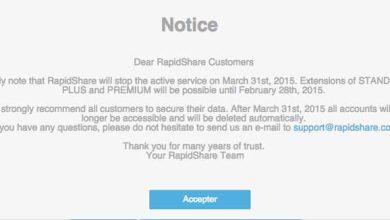Rapidshare fermera le 31 mars