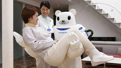 Photo de Robear : un ours-robot pour déplacer les patients invalides