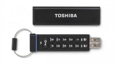Photo de Toshiba lance une clé USB cryptée innovante