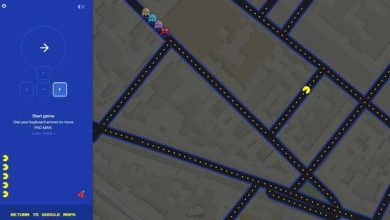 Photo de Jouer à Pac-Man dans Google Maps