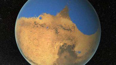 Photo de La planète rouge disposait d'une vaste étendue d'eau salée aussi identique que l'Arctique