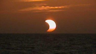 Éclipse partielle du soleil.