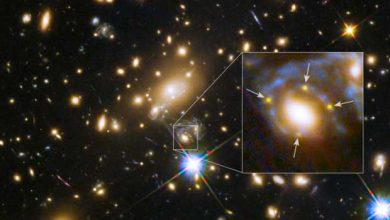 Photo de Observation de la 1re Croix d'Einstein d'une supernova