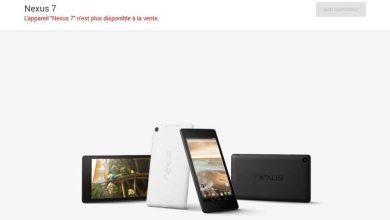 Photo de Google : l'heure de la retraite a sonné pour le Nexus 7