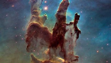 La nébuleuse de l'Aigle photographiée par Hubble.