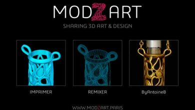 Photo de Impression 3D : Modzart, une plateforme open source dédiée à l'art et au design